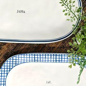 🌟2 RAE Dunn platter FREE SHIP* EAT SERVE